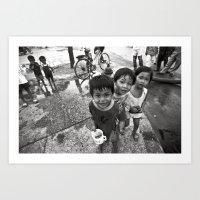 Vietnamese Children With… Art Print
