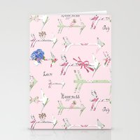 Happiness is a bouquet of shabby chic Stationery Cards