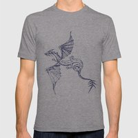 A Dragon's Tale Mens Fitted Tee Athletic Grey SMALL