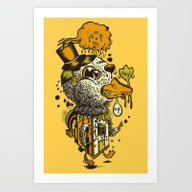 Art Print featuring A Disorientated Duck Goe… by Ben Foot