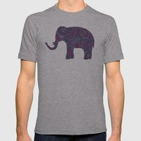 Paisley Elephant Mens Fitted Tee Athletic Grey SMALL