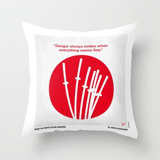No200 My The Seven Samurai minimal movie poster Throw Pillow