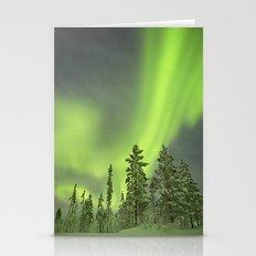 Aurora Borealis Over Sno… Stationery Cards