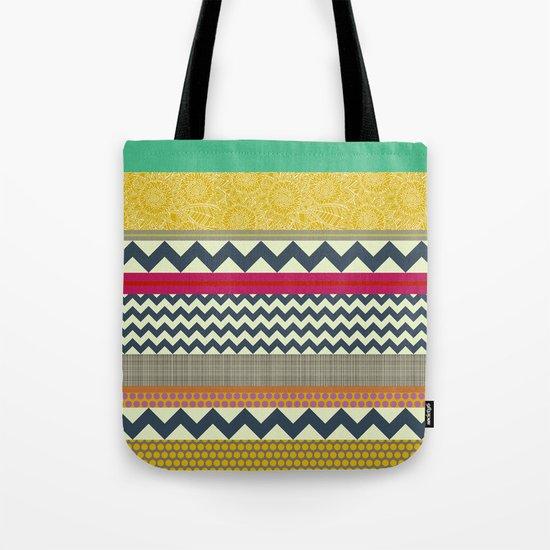 New York Beauty stripe Tote Bag