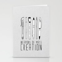 house Stationery Cards featuring weapons of mass creation by Bianca Green