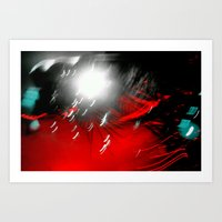 Red Flash With A Little … Art Print