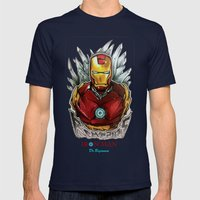 Drawing By Reeve Wong Mens Fitted Tee Navy SMALL