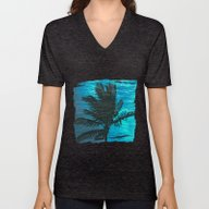 Unisex V-Neck featuring Swimming Palm by Catspaws