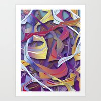 Interaction (in purple) Art Print
