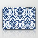 Ikat Damask Navy iPad Case