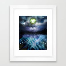 Mist of Lakes [Digital Art Illustration] Framed Art Print