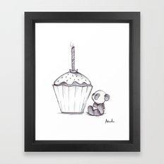 Panda Cake, Panda Cake Framed Art Print