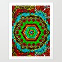 Crazy pattern machine Art Print