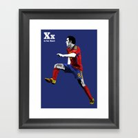 X is for Xavi Framed Art Print