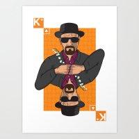 Walter White King Of Clu… Art Print