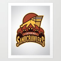 Tatooine SandCrawlers Art Print