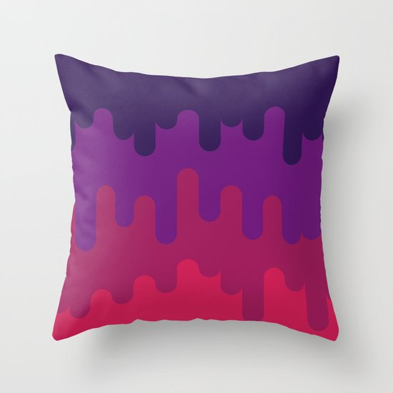 Drips and Drops - Pink Throw Pillow