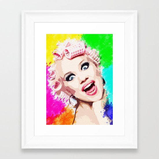 CURLERS Framed Art Print