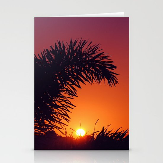 sunset in mexico Stationery Card