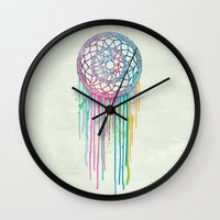 Watercolor Dream Catcher Wall Clock