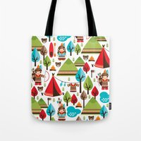 Cute indian haunting illustration pattern Tote Bag