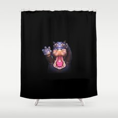 Animal Portraits - Hippopotamus Shower Curtain