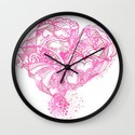 Pinky Valentine Hearty Weather Wall Clock