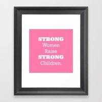 Strong Women - Pink.  Framed Art Print