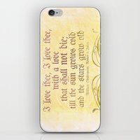 I Love Thee, I Love Thee… iPhone & iPod Skin