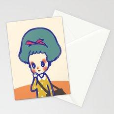 Thinking girl  Stationery Cards