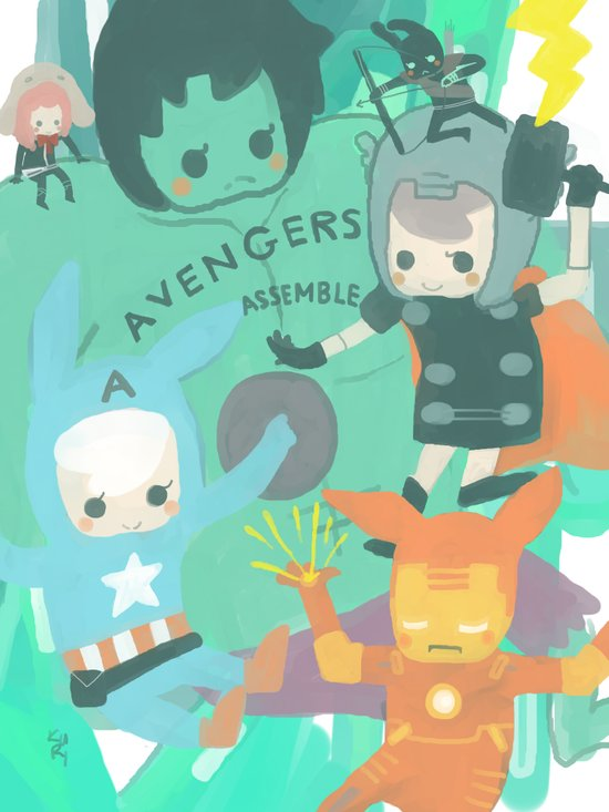 Avengers Assemble. Canvas Print