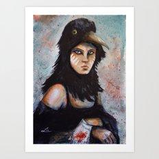 Raven girl Art Print