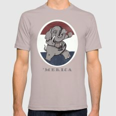 'Merica! Mens Fitted Tee Cinder SMALL