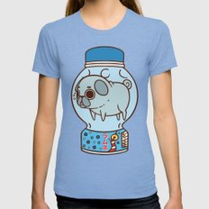 Puglie Ramune Womens Fitted Tee Tri-Blue SMALL