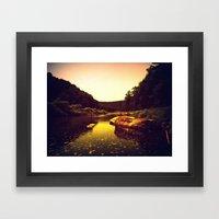 Let The Creek Take You A… Framed Art Print
