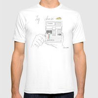 Say Cheese Mens Fitted Tee White SMALL