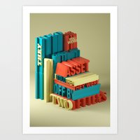 Typographic Insults #6 Art Print