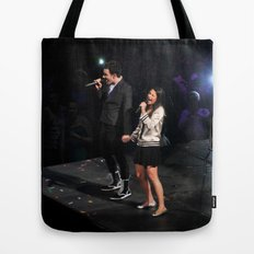 Glee Concert: Lea Michele and Chris Colfer Tote Bag