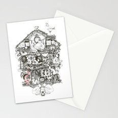 Follow the red rabbit Stationery Cards