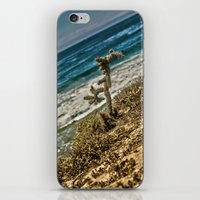 The Lonely Golden Cactus. iPhone & iPod Skin