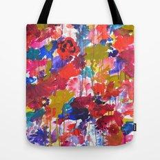 Floral Drip Tote Bag
