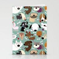 Dog Pattern Stationery Cards