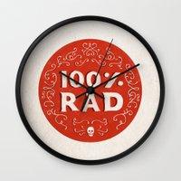 100% Rad Wall Clock