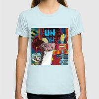 UH-OH! - WEASEL! Womens Fitted Tee Light Blue SMALL