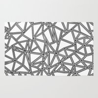 Abstract New Black On Wh… Rug
