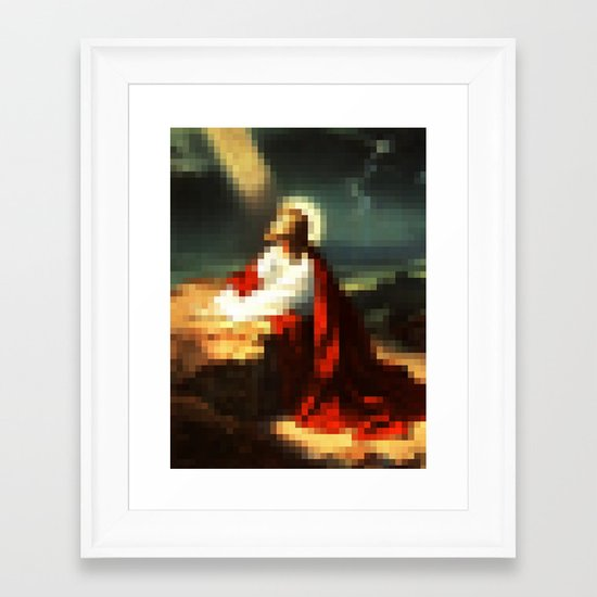 Digital Jesus Framed Art Print