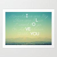 Adventures And I Love Yo… Art Print