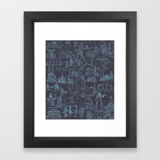 My destinations Framed Art Print