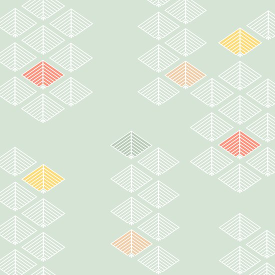 Japanese Pattern: Spring Art Print