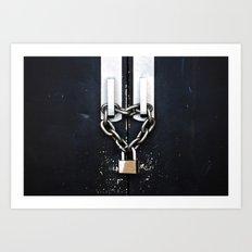 Locked by Love Art Print